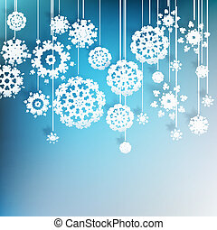 High definition snowflakes on blue. EPS 10 - High definition...