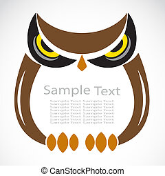 The design of the owl on white background