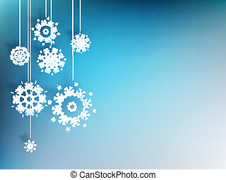 Christmas background with snowflake. EPS 10