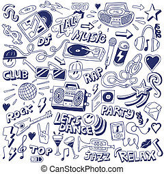 music party - doodles