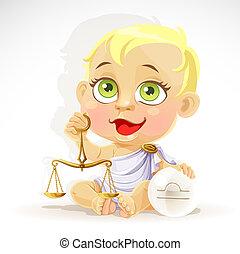 Baby zodiac - sign Libra