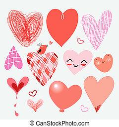 serca, Różny, komplet