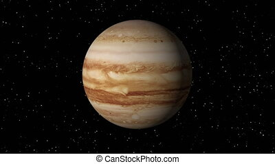 Jupiter Rotating Seamless Loop - 3D animation of planet...