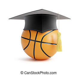 basketball school on a white background