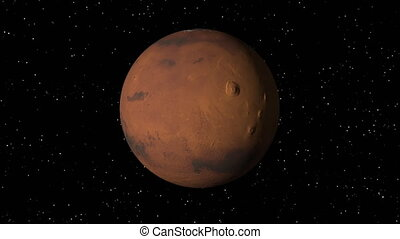 Mars Rotating Seamless Loop - 3D animation of planet Mars...