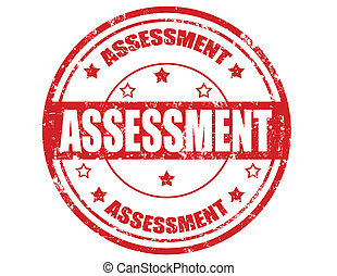 Assessment-stamp - Grunge rubber stamp with word Assessment...