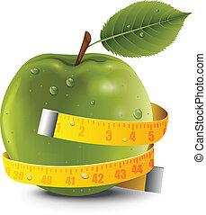 Jabłko, centymetr