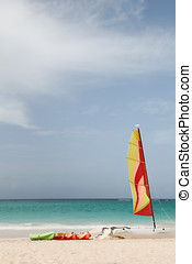 watersport with sailing boat