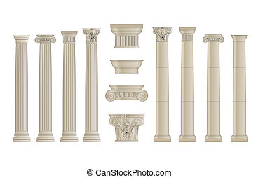 columns set - columns with separate capitals