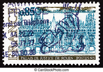 Postage stamp France 1975 Palace of Justice, Rouen - FRANCE...