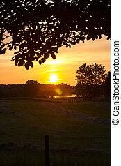 Sunset Landscape in denmark