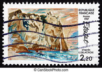 FRANCE - CIRCA 1987: a stamp printed in the France shows...