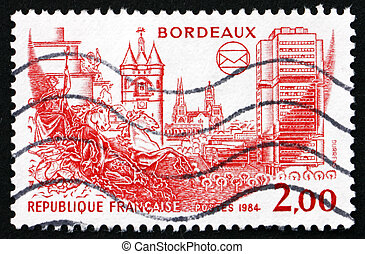 Postage stamp France 1984 View of Bordeaux