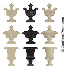 Urns1 - set of classic urns