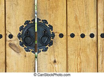 antique wooden door korean style