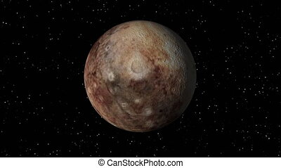 Pluto Rotating Seamless Loop - 3D animation of planet Pluto...