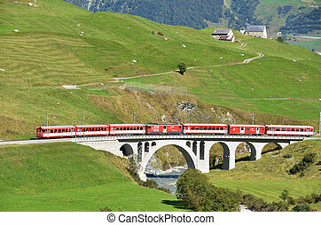 SWITZERLAND - SEP 16: Glacier Express of Matterhorn-Gotthard...