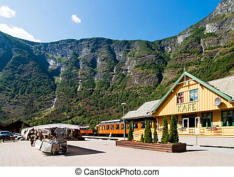 Mountain Town in the Fjords - The small tourist town of Flam...