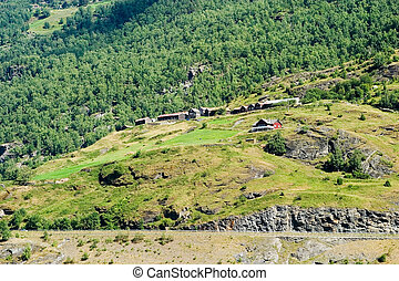 Mountain Farm - A mountain farm on the side of...