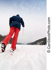 Cross Country Skier - A cross country skier out on a...