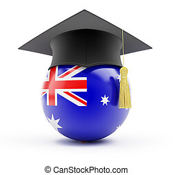education in australia on a white background