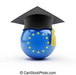 education in european union  n a white background