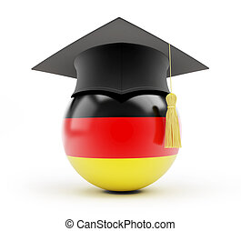 education in germany on a white background
