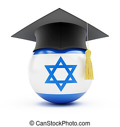 education in israel on a white background