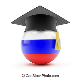 education in russia on a white background