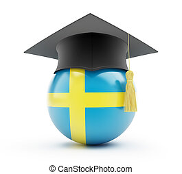 education in sweden on a white background