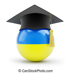 education in ukraine on a white background