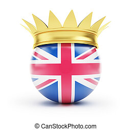 england crown on a white background