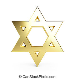 gold star of David on a white background