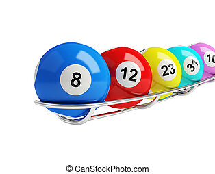 lottery balls on a white background