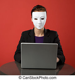 Secret Identity - A female surfing the web anonymously