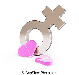 love pill for women on a white background