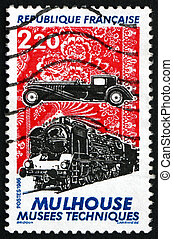 Postage stamp France 1986 Mulhouse Technical Museum - FRANCE...