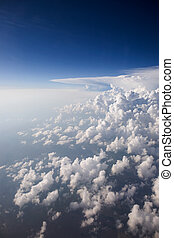 Cloudscape from Above - A view of cumulus clouds from above