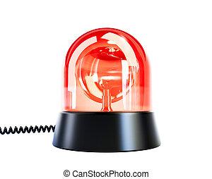 ライト, ぴかっと光る, 赤