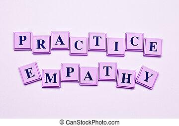práctica, Empatía