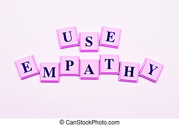 Use Empathy spelled out in colored blocks