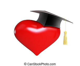 school dating graduation cap (Valentine's Day school  )