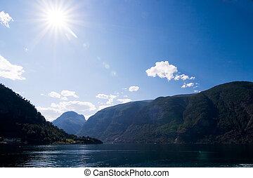 Norwegian Fjord - Aurlands fjord in western norway.