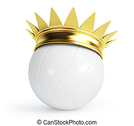 volleyball ball gold crown - volleyball gold crown on a...
