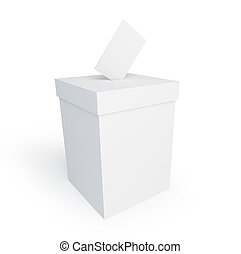 vote box form on a white background
