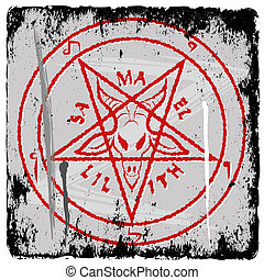 pentagram on grunge background