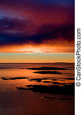 Ocean Sunset - Coastal Landsacpe on the very outside of the...