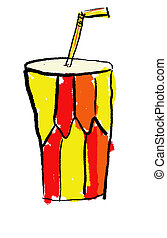 Softdrink - A childlike drawing of a soft drink cup