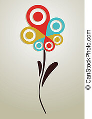 Gps mark conceptual flower - Spring Geo position system...