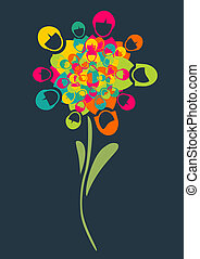 Social media people flower - Social media networks flower...